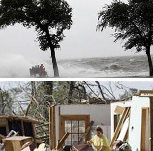 कैटरीना तूफान से अमेरिका में 10 लाख लोग बेघर